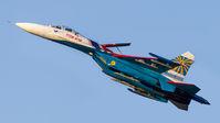 "#2 Russia - Air Force ""Russian Knights"" Sukhoi Su-27P 08 taken by Sandor Vamosi"