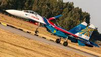 "#3 Russia - Air Force ""Russian Knights"" Sukhoi Su-27P 08 taken by Sandor Vamosi"