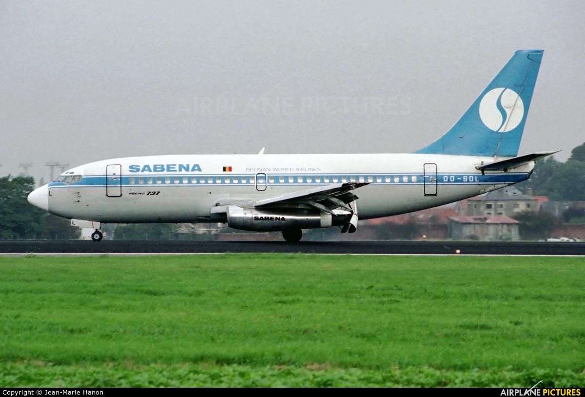 Sabena OO-SDL aircraft at Brussels - Zaventem