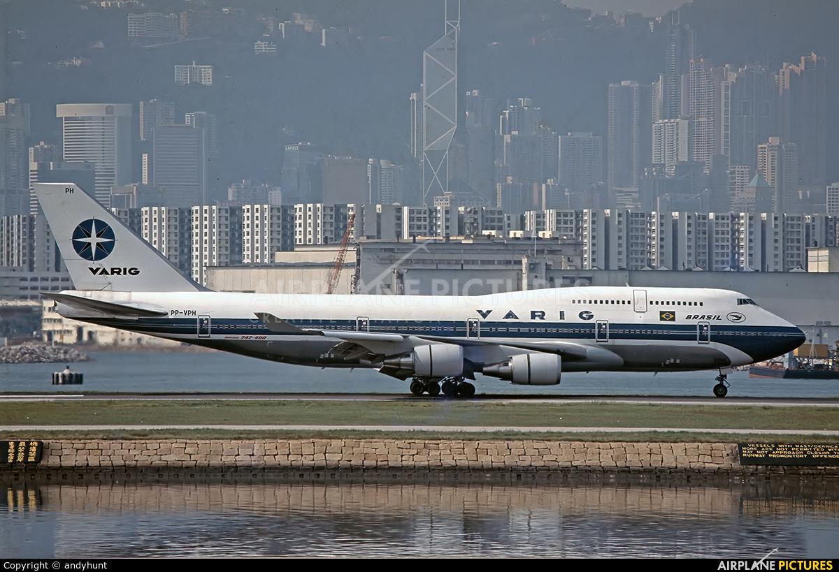 VARIG PP-VPH aircraft at HKG - Kai Tak Intl CLOSED