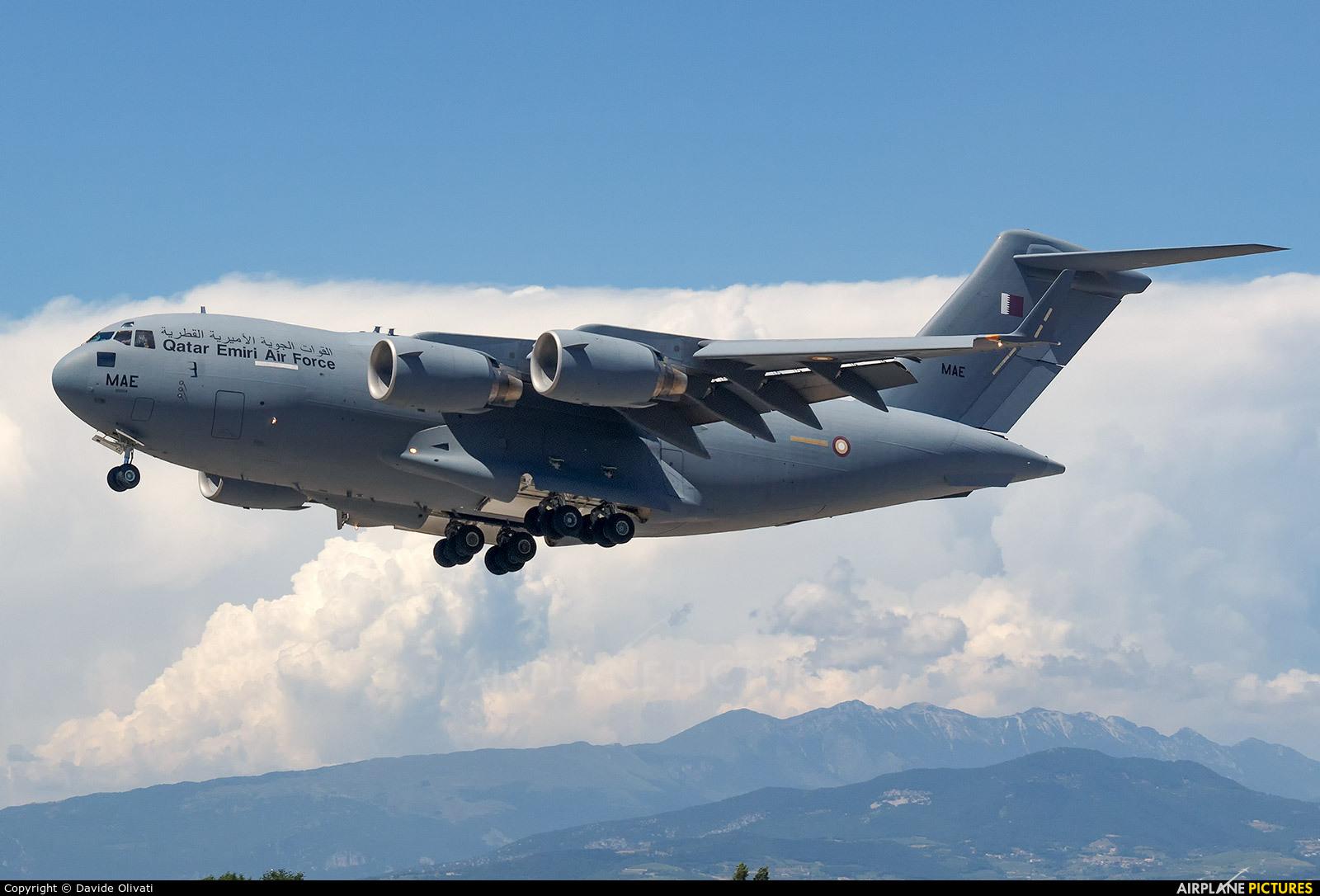 Qatar Amiri - Air Force A7-MAE aircraft at Verona - Villafranca