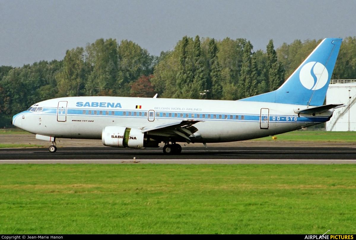 Sabena OO-SYG aircraft at Brussels - Zaventem