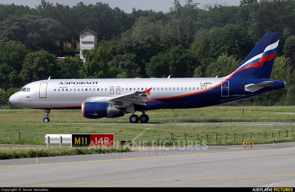 Aeroflot F-WWBN aircraft at Toulouse - Blagnac
