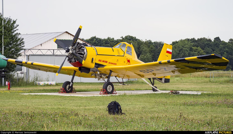 ZUA Mielec SP-ZUL aircraft at Wrocław - Szymanów