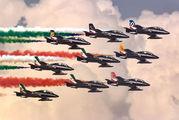 "- - Italy - Air Force ""Frecce Tricolori"" Aermacchi MB-339-A/PAN aircraft"