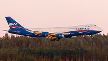 Rare visit of SilkWay Boeing 747-8F to Helsinki title=