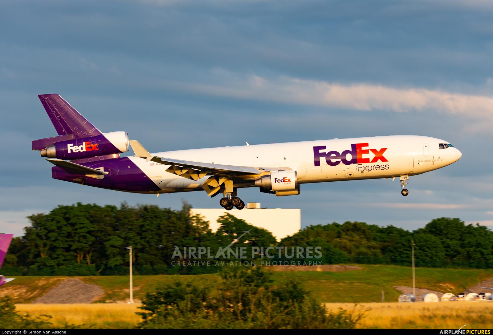FedEx Federal Express N528FE aircraft at Liège-Bierset
