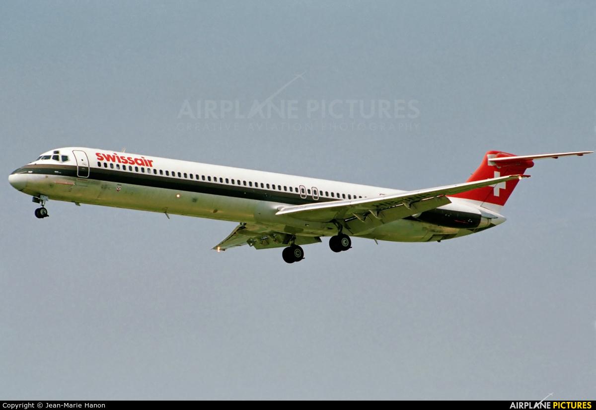 Swissair HB-INP aircraft at Brussels - Zaventem