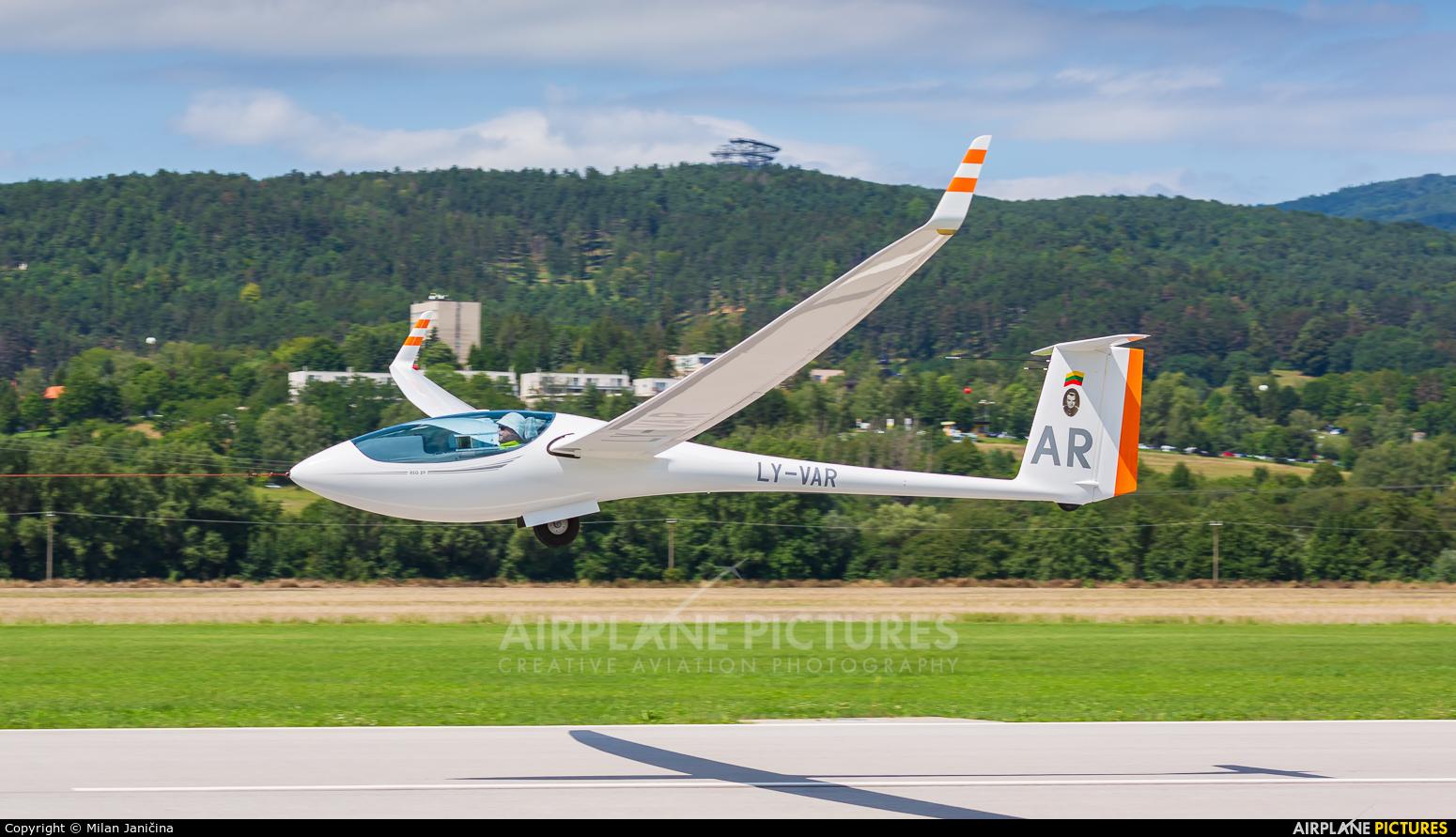 Private LY-VAR aircraft at Prievidza