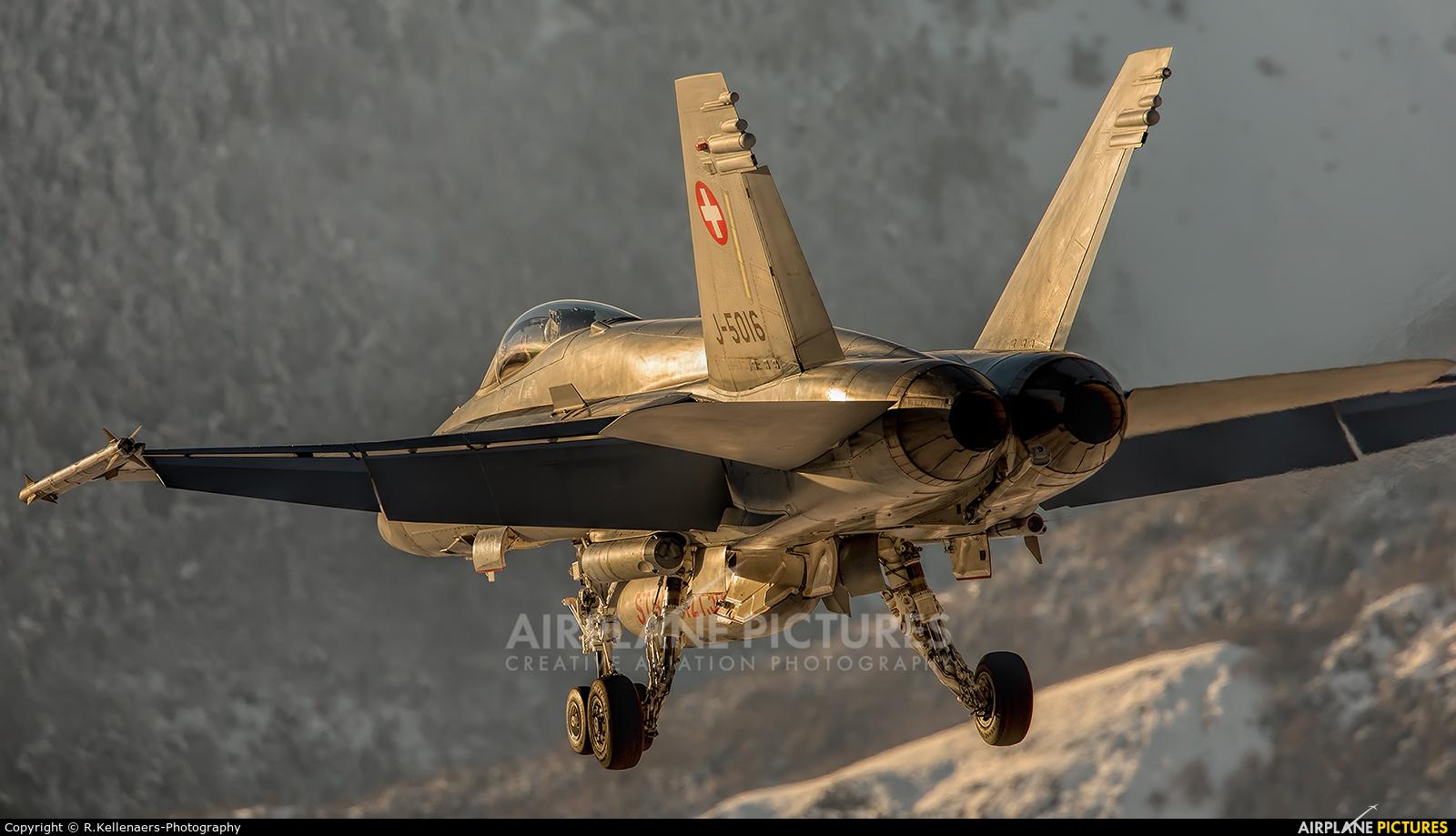 Switzerland - Air Force J-5016 aircraft at Sion