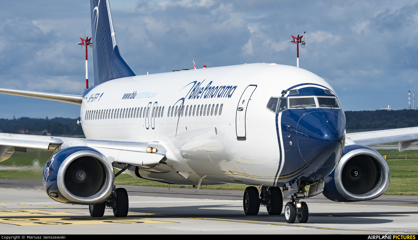 Blue Panorama Airlines 9H-GFP aircraft at Katowice - Pyrzowice