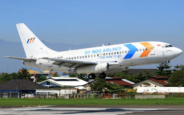 PK-MYR - My Indo Airlines Boeing 737-200 (Combi)