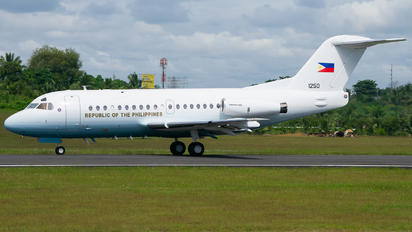 RP-1250 - Philippines - Air force Fokker F28