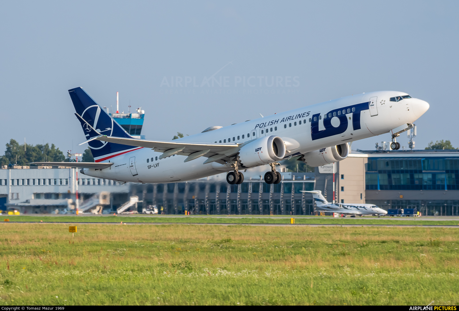 LOT - Polish Airlines SP-LVF aircraft at Katowice - Pyrzowice