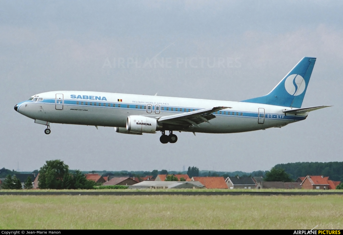 Sabena OO-SYF aircraft at Brussels - Zaventem