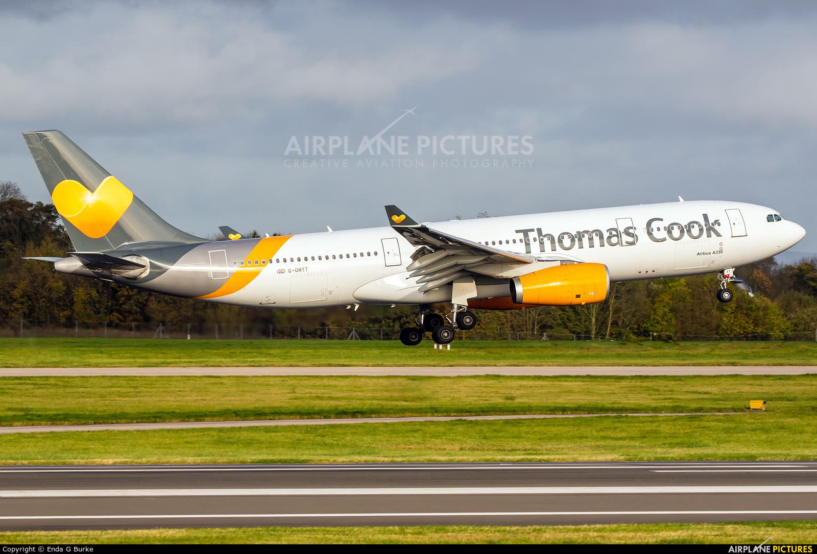 Thomas Cook G-OMYT aircraft at Manchester
