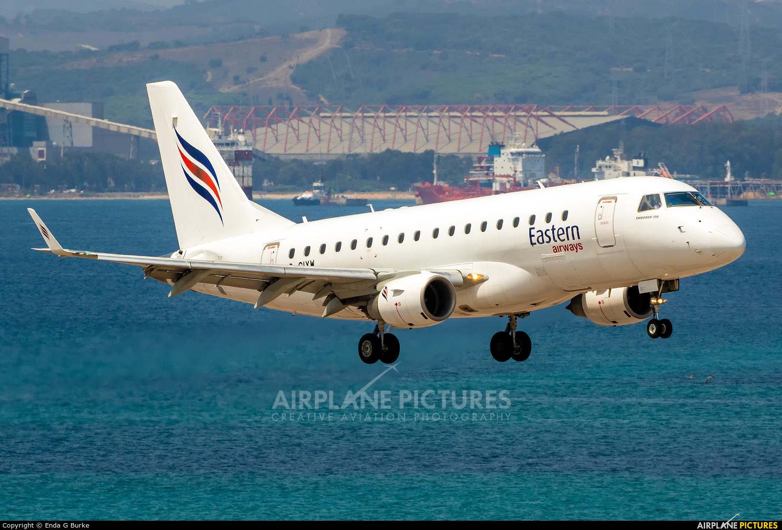 Eastern Airways G-CIXW aircraft at Gibraltar