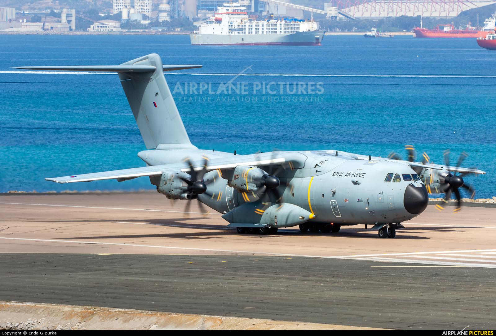 Royal Air Force ZM411 aircraft at Gibraltar