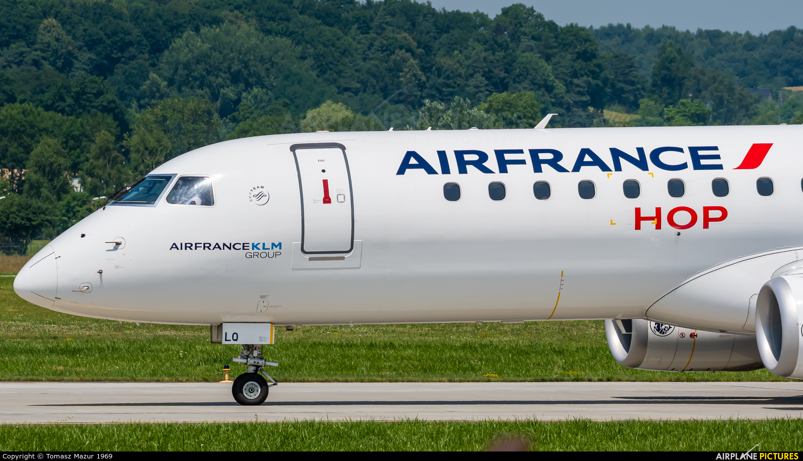 Air France - Hop! F-HBLQ aircraft at Kraków - John Paul II Intl