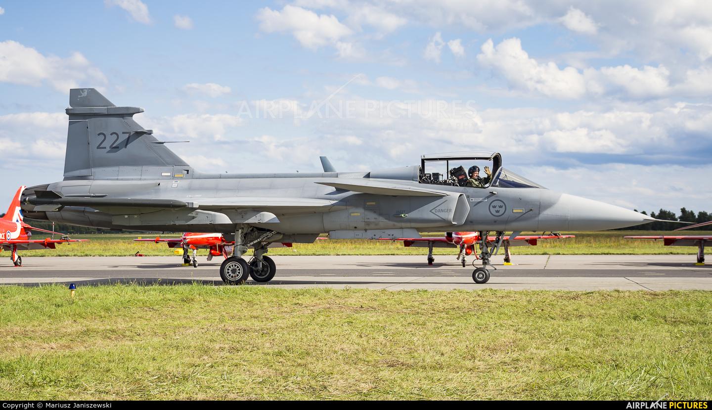 Sweden - Air Force 227 aircraft at Gdynia- Babie Doły (Oksywie)
