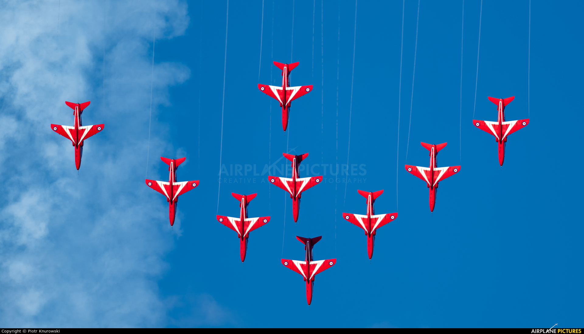 "Royal Air Force ""Red Arrows"" XX325 aircraft at Gdynia- Babie Doły (Oksywie)"