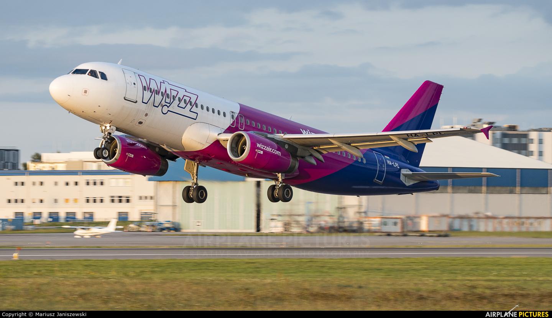 Wizz Air HA-LPL aircraft at Gdańsk - Lech Wałęsa
