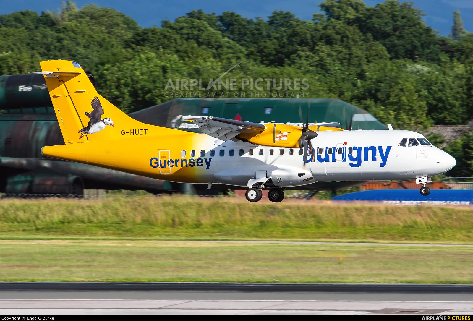 Aurigny Air Services G-HUET aircraft at Manchester