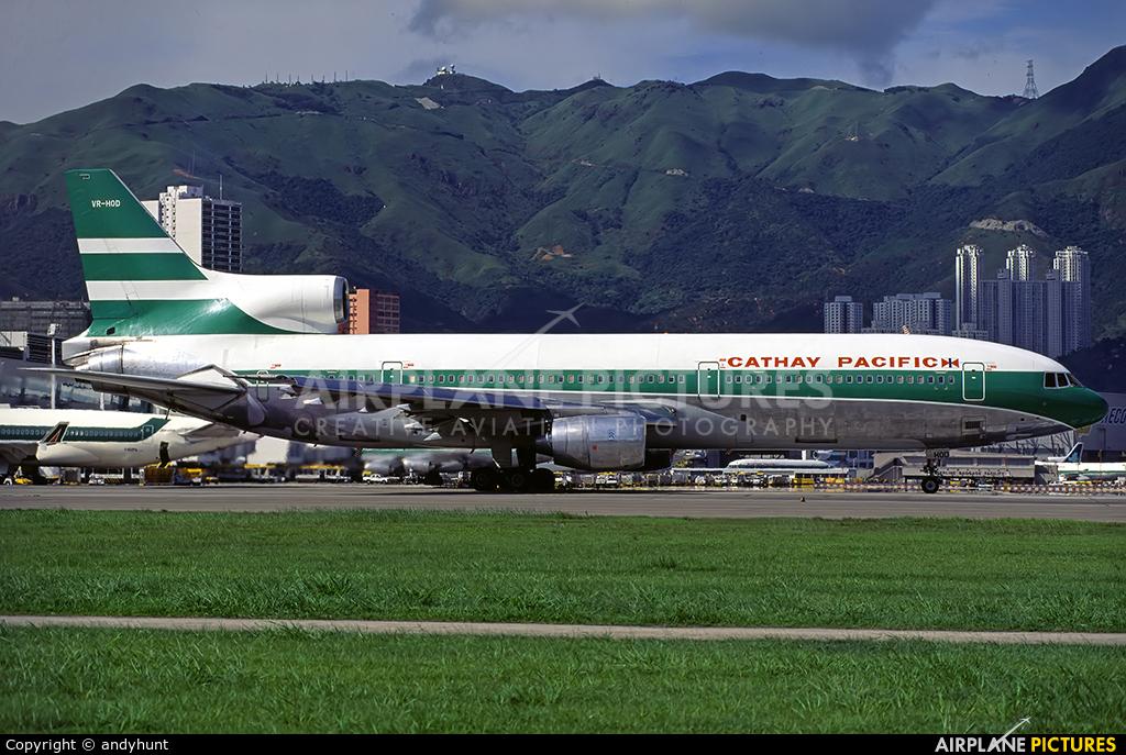 Cathay Pacific VR-HOD aircraft at HKG - Kai Tak Intl CLOSED