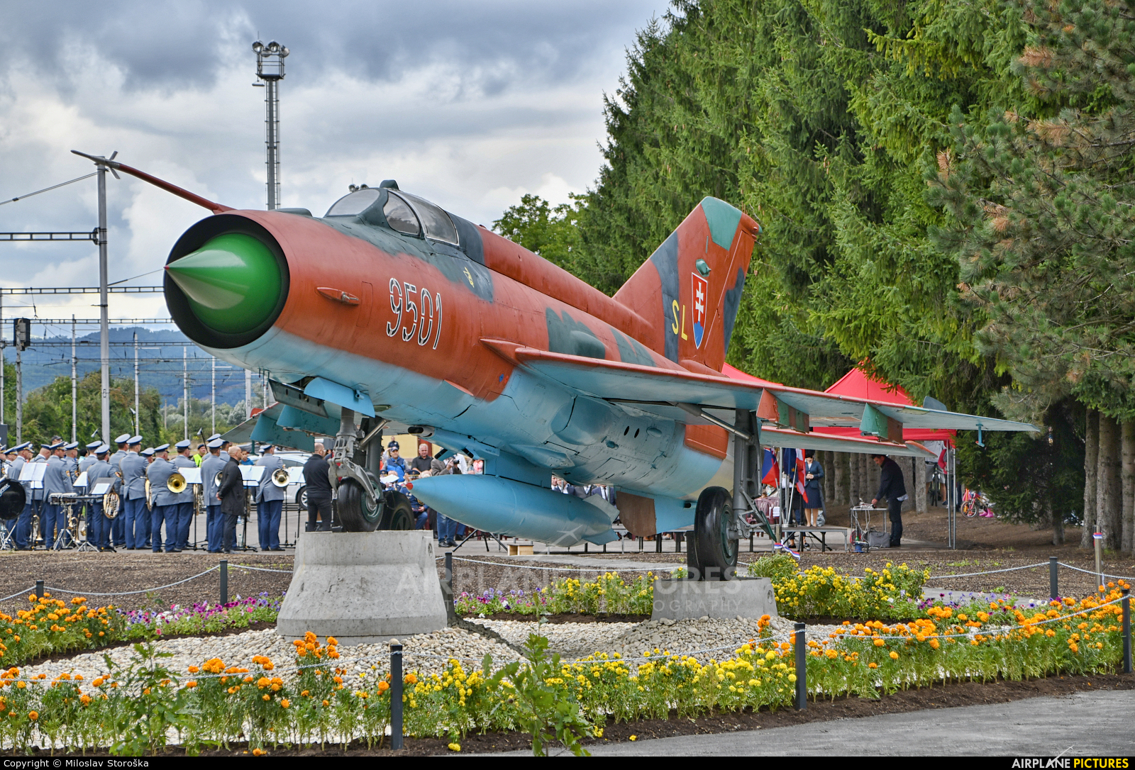 Slovakia -  Air Force 9501 aircraft at Off Airport - Slovakia