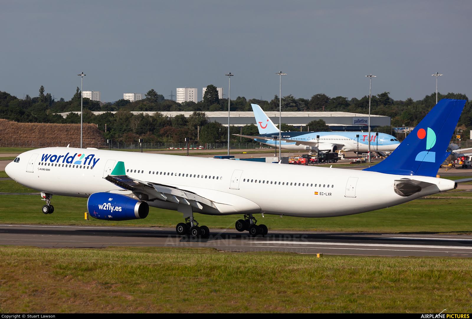 World2fly EC-LXR aircraft at Birmingham
