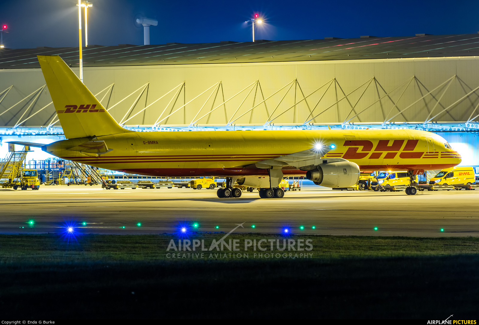 DHL Cargo G-BMRA aircraft at East Midlands