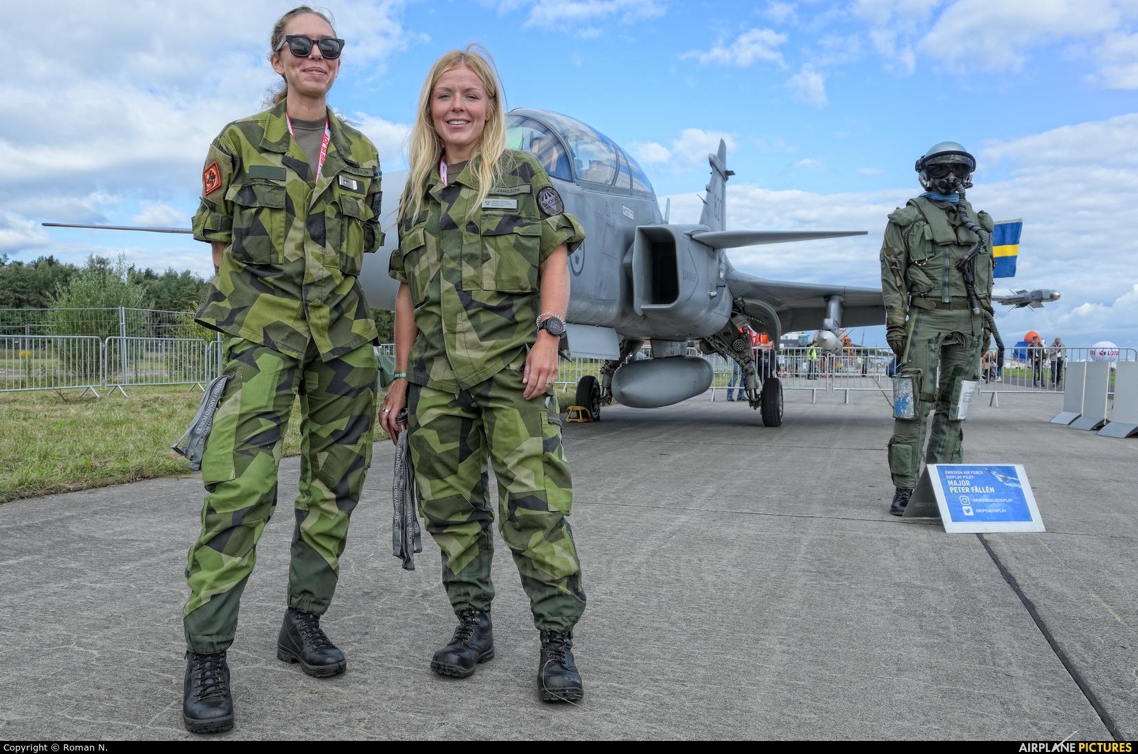 Sweden - Air Force - aircraft at Gdynia- Babie Doły (Oksywie)