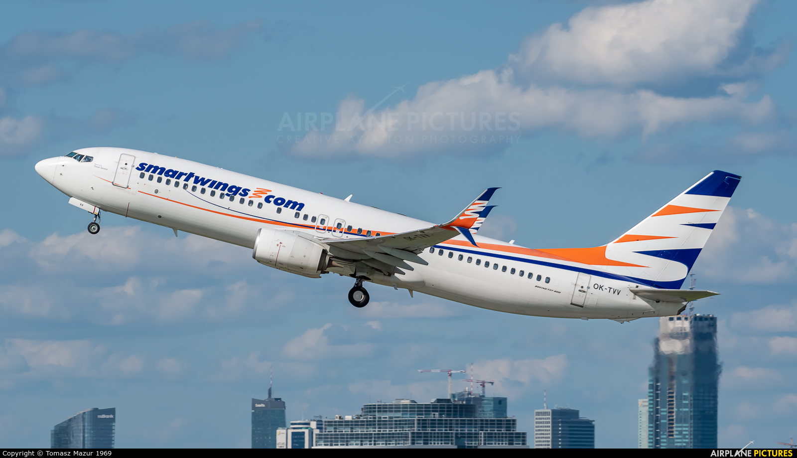 SmartWings OK-TVV aircraft at Warsaw - Frederic Chopin