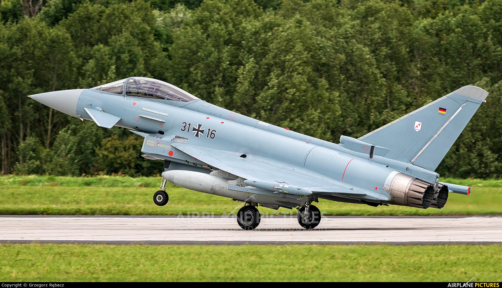 Germany - Air Force 31+16 aircraft at Gdynia- Babie Doły (Oksywie)