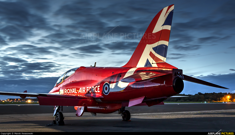 "Royal Air Force ""Red Arrows"" XX219 aircraft at Gdynia- Babie Doły (Oksywie)"