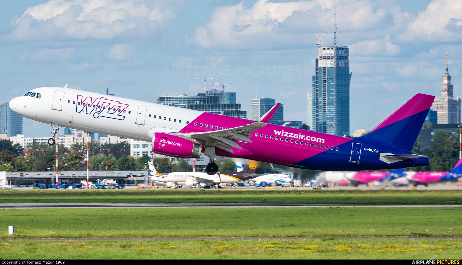 Wizz Air UK G-WUKJ aircraft at Warsaw - Frederic Chopin