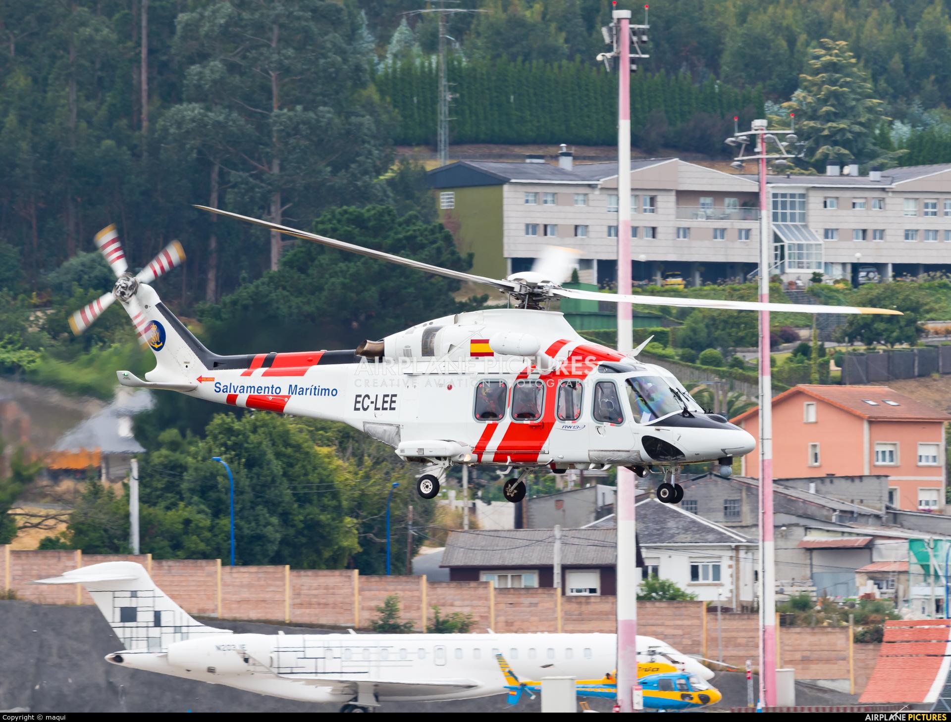Spain - Coast Guard EC-LEE aircraft at La Coruña