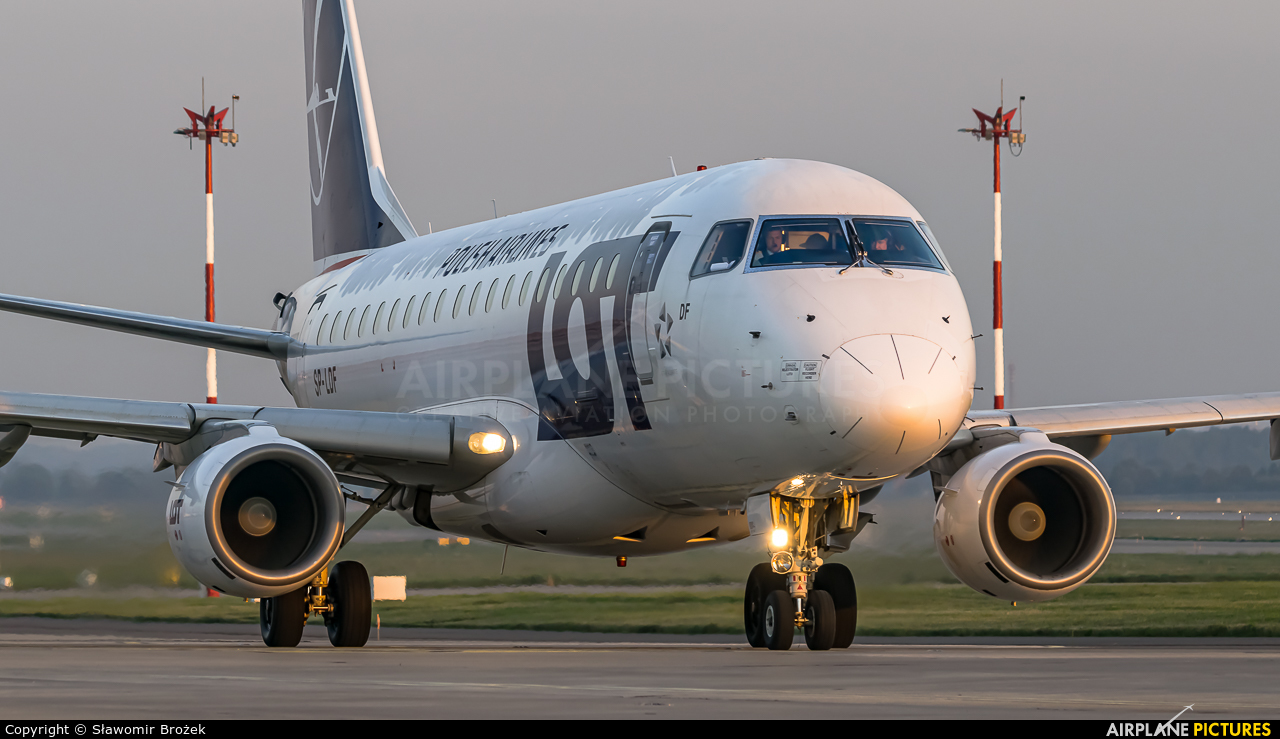LOT - Polish Airlines SP-LDF aircraft at Katowice - Pyrzowice