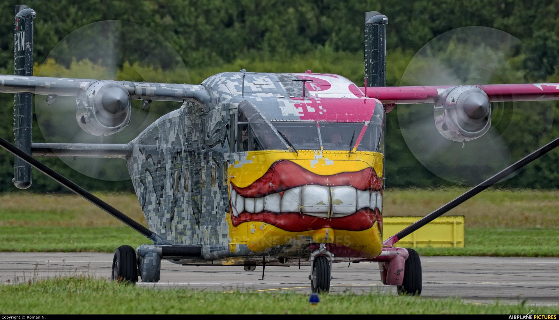 Pink Aviation OE-FDN aircraft at Gdynia- Babie Doły (Oksywie)