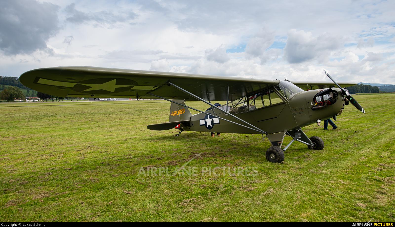 Private HB-OUN aircraft at Birrfeld