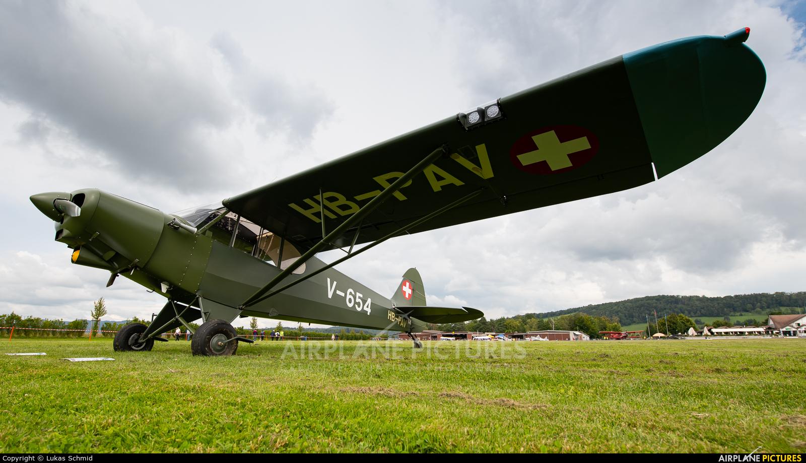 Private HB-PAV aircraft at Birrfeld
