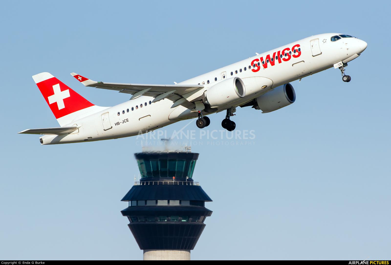Swiss HB-JCE aircraft at Manchester