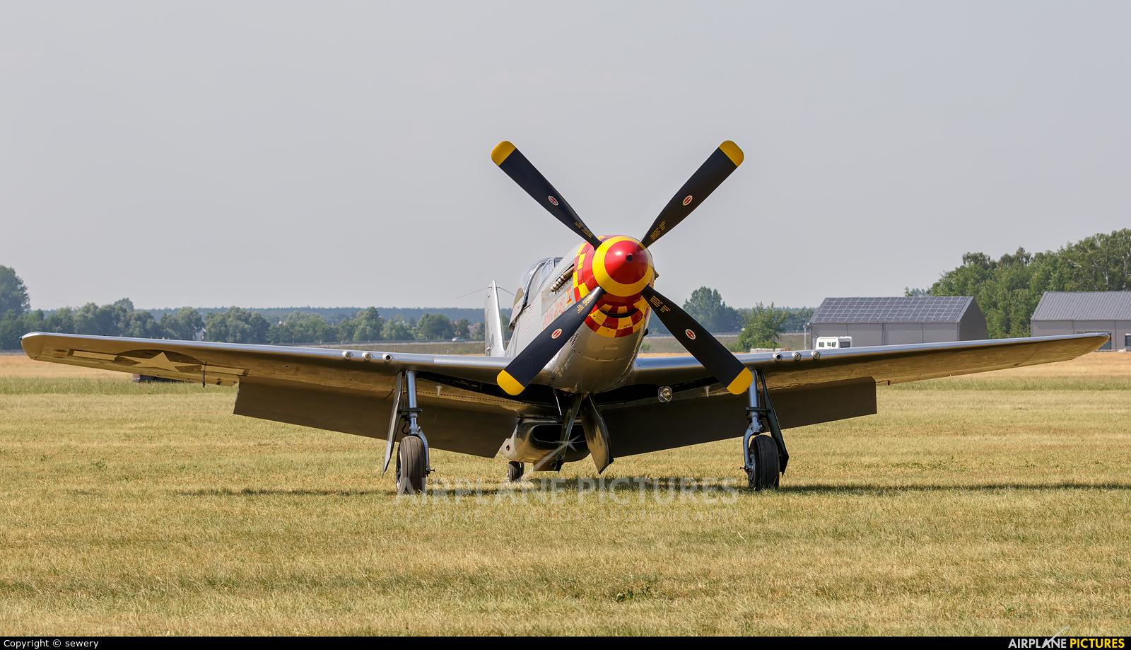 The Flying Bulls F-AZSB aircraft at Leszno - Strzyżewice