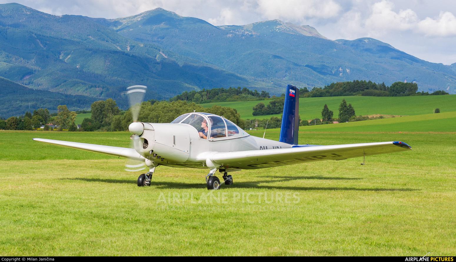 Private OM-NPJ aircraft at Martin-Tomčany