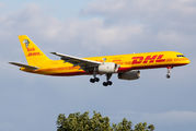 """Boeing 757 of DHL wears new """"Tusk Trust"""" special paint title="""