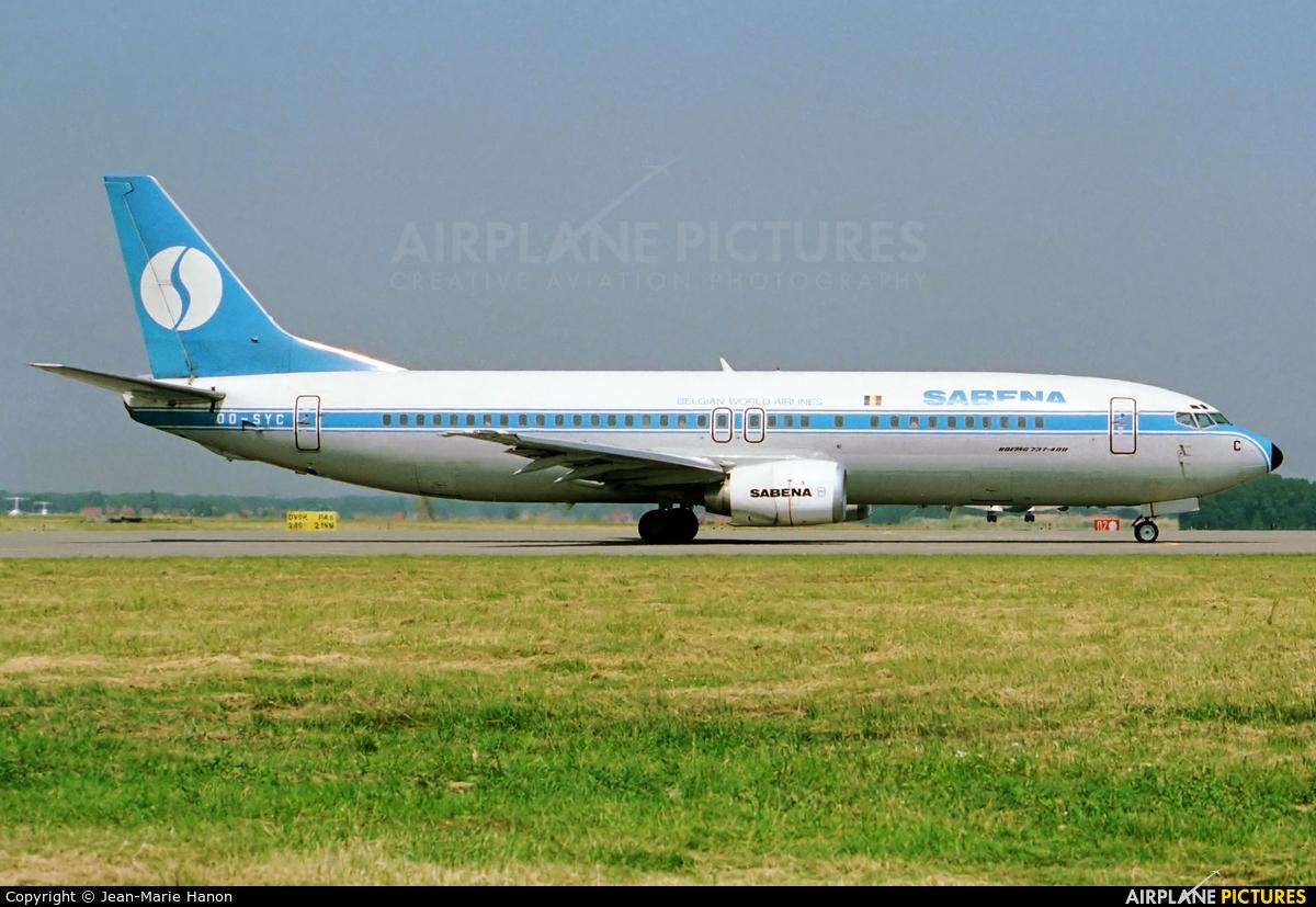 Sabena OO-SYC aircraft at Brussels - Zaventem