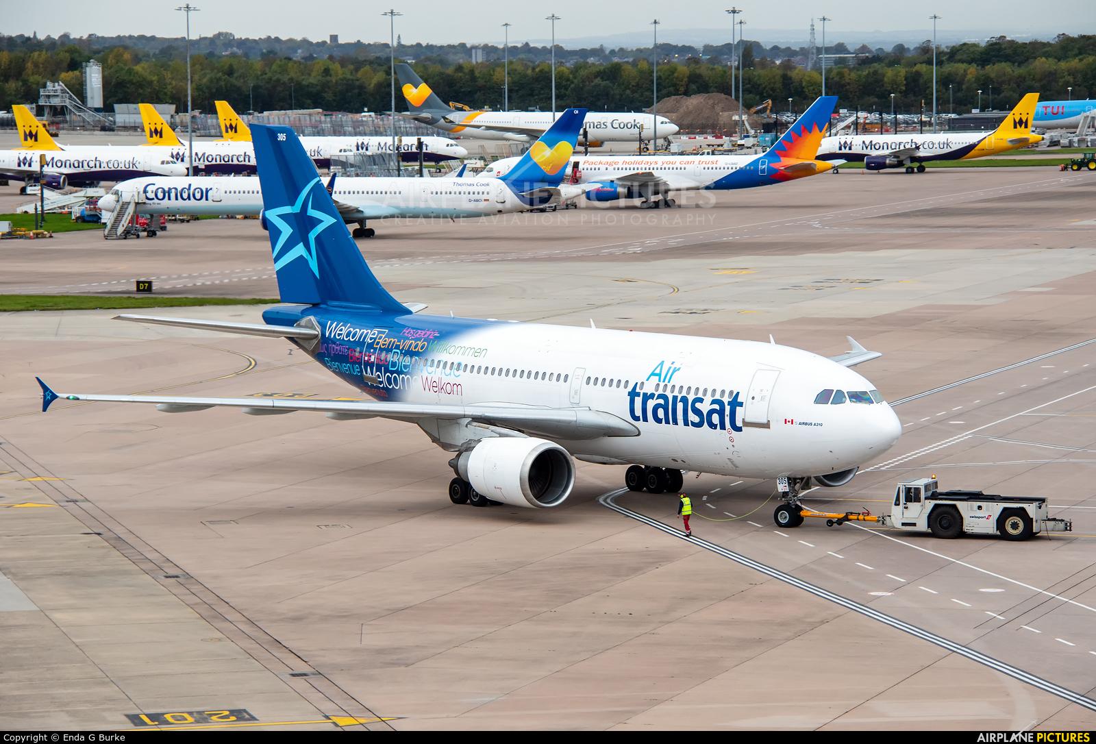 Air Transat C-FDAT aircraft at Manchester