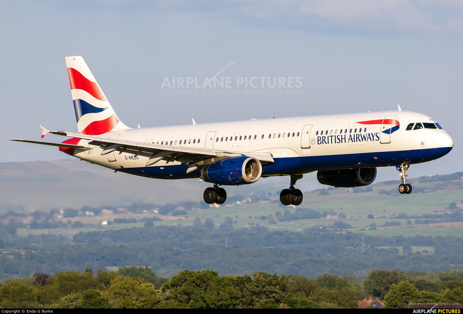 British Airways G-MEDU aircraft at Manchester