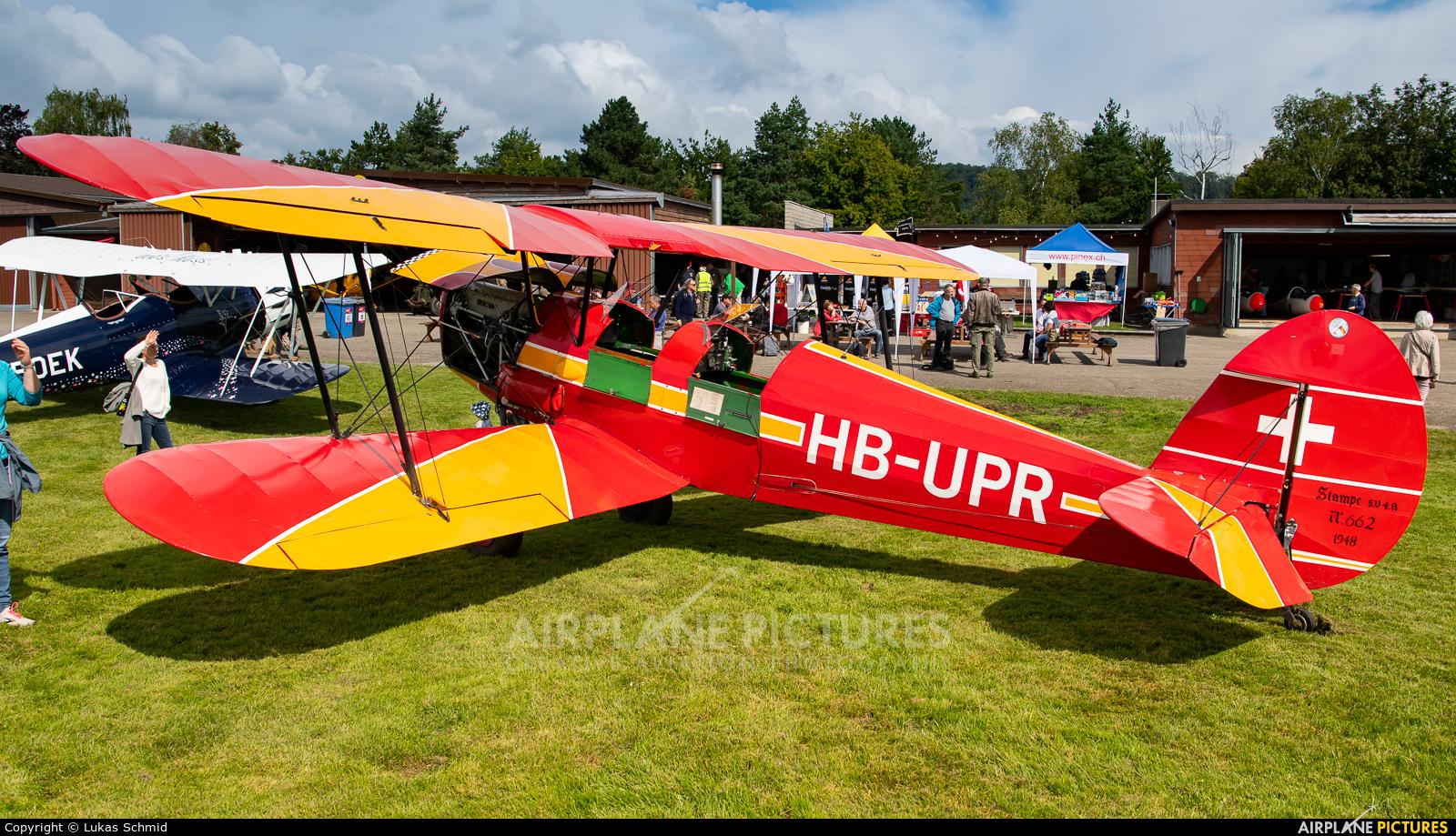Fluggruppe Albatros HB-UPR aircraft at Birrfeld