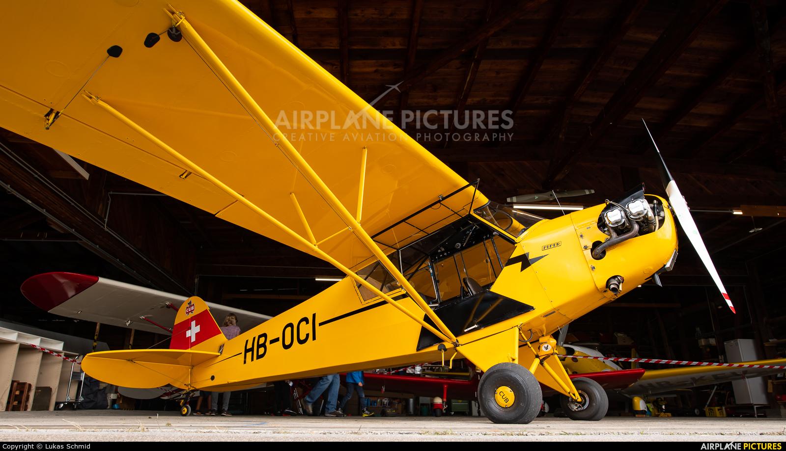 Private HB-OCI aircraft at Birrfeld
